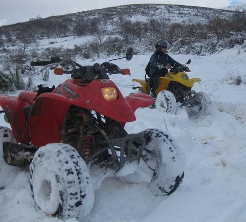 ruta quad nieve bejar